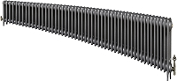 Eastgate Victoriana 3 Column 51 Section Cast Iron Radiator 450mm High x 3104mm Wide - Metallic Finish